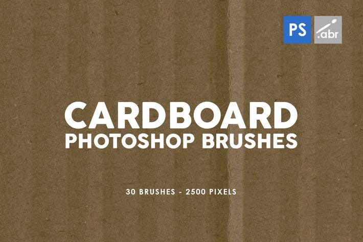 Thumbnail for 30 Cardboard Photoshop Brushes