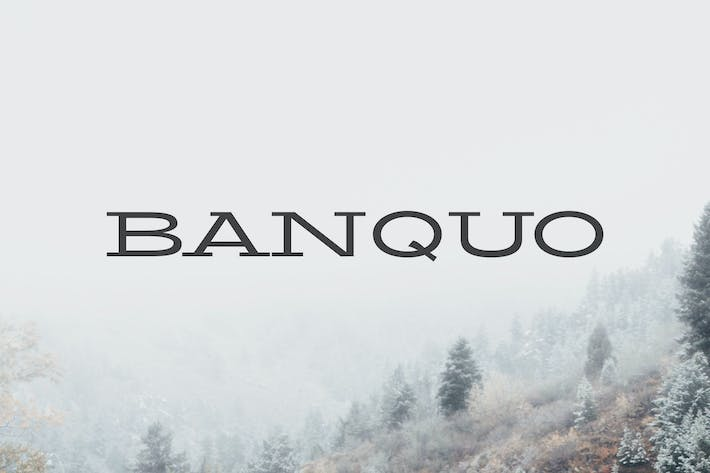 Thumbnail for Banquo Serif Font Family