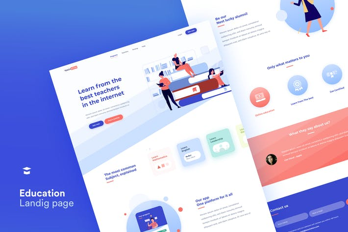 Teachation Landing Page