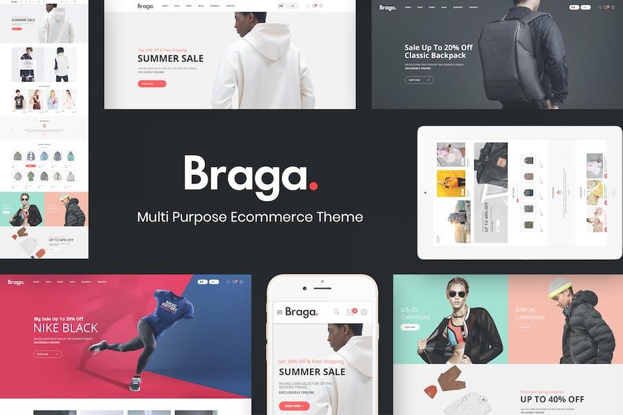 Braga - Multipropósito Responsive Prestashop Tema