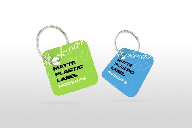 Matte Plastic Label Mockups