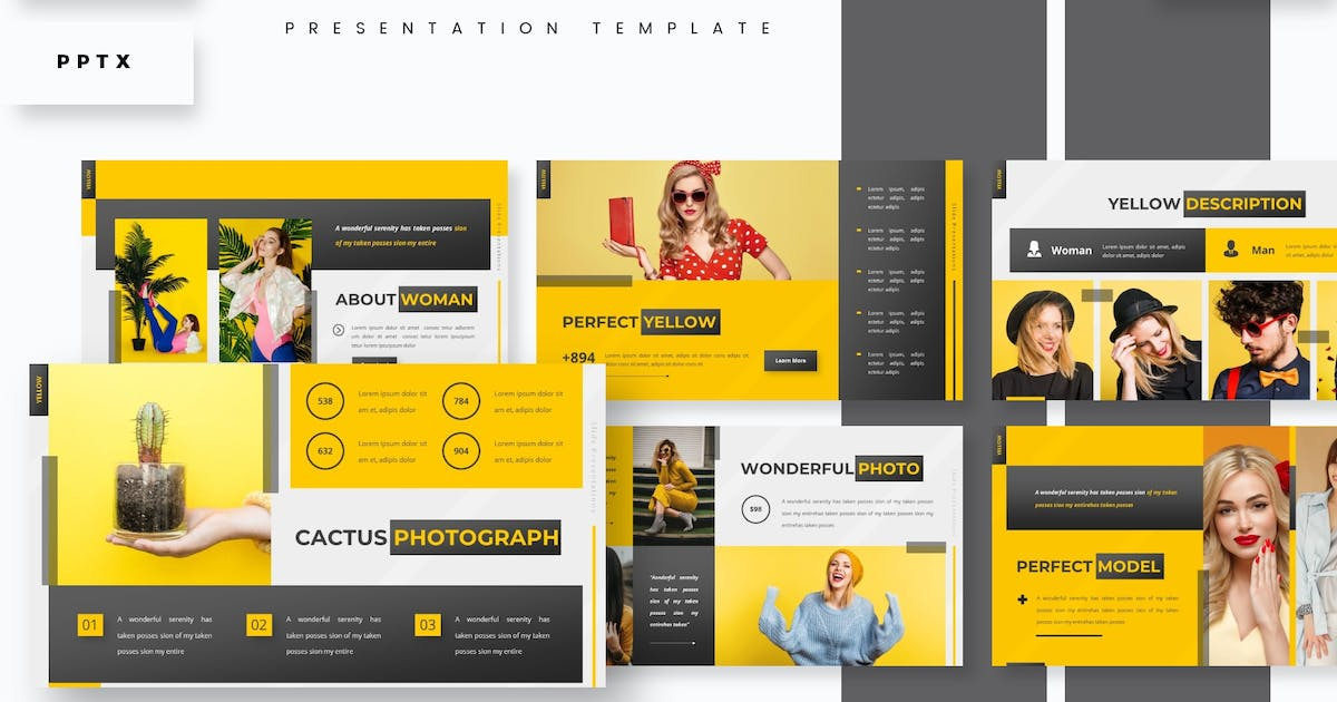 Download Yellow Glow - Presentation Template by aqrstudio