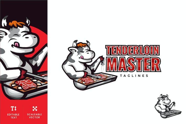 Thumbnail for Tenderloin Steak Cafe Logo Illustration Vector