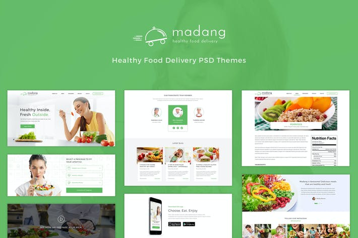 Thumbnail for Madang - Healthy Food Delivery PSD