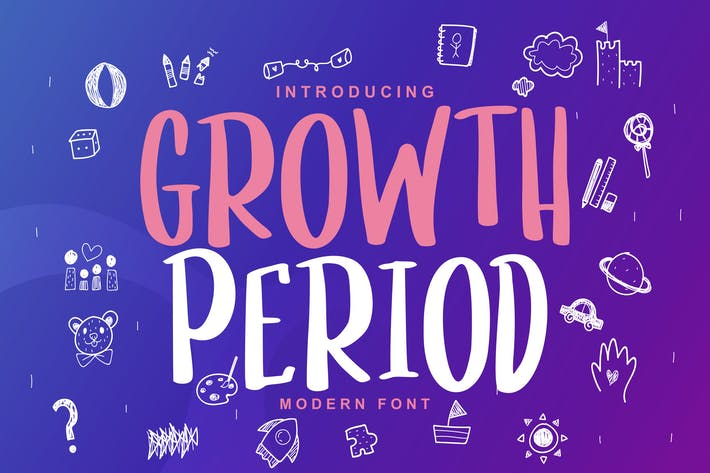 Thumbnail for Growth Period | Kids Modern Font