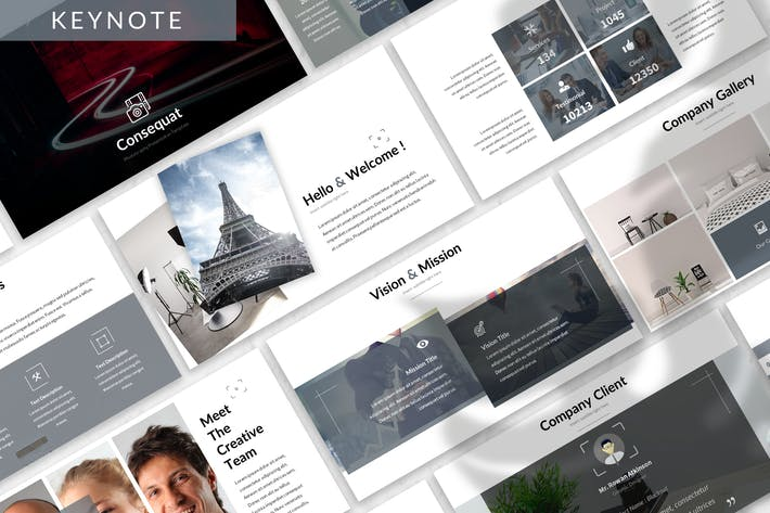 Thumbnail for Consequat - Photograph Keynote Template
