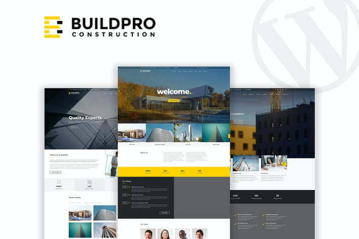Thumbnail for BuildPro - Business & Construction WordPress Theme