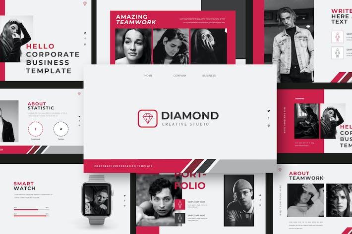 Thumbnail for Diamond Powerpoint Template