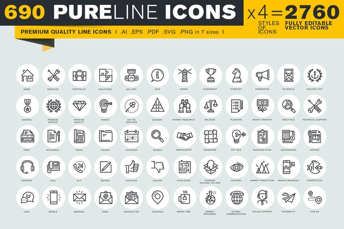 Thumbnail for Pure Line Icons