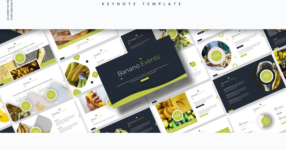 Download Banano - Keynote Template by aqrstudio