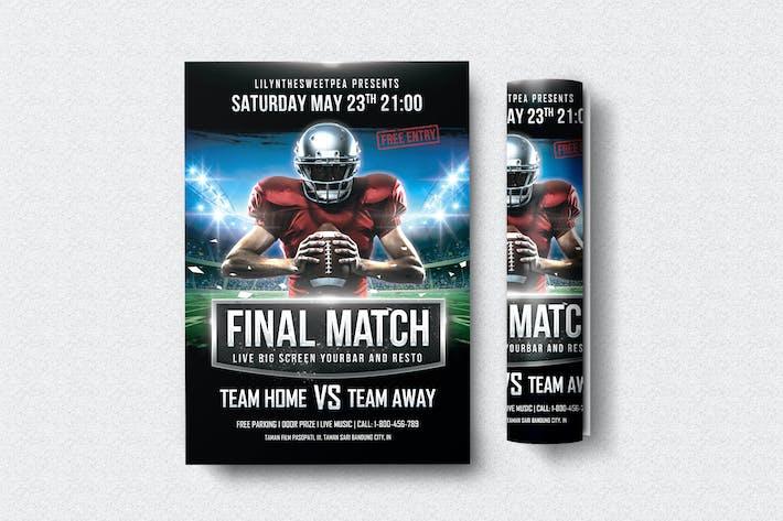Thumbnail for Final Match Football Flyer