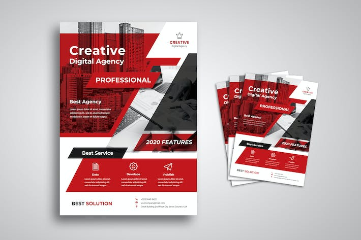 Thumbnail for Creative Digital Agency Flyer