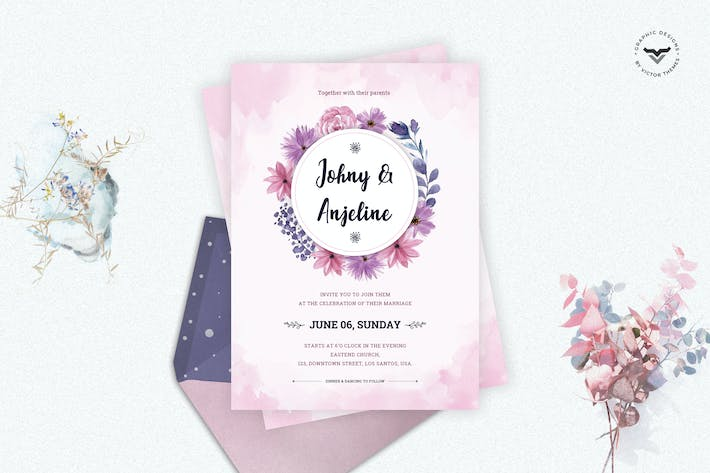 Cover Image For Wedding Invitation Template