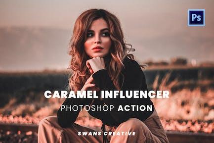 Caramel Influencer Photoshop Action