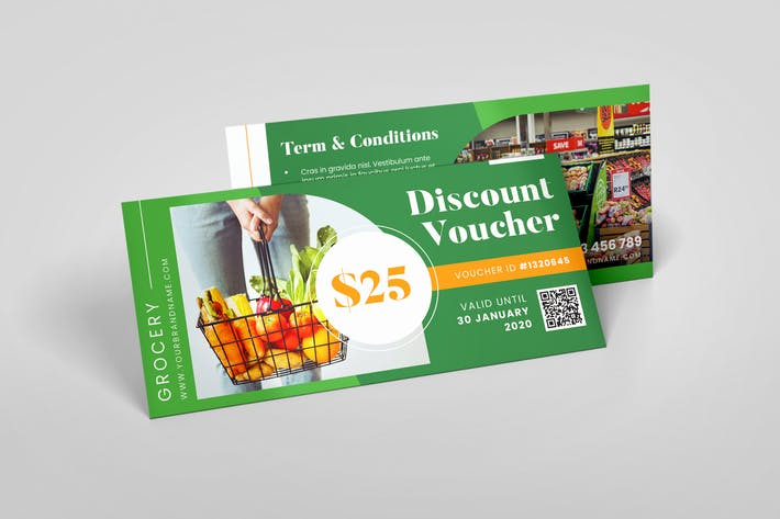 Thumbnail for Grocery Supermarket AI and PSD Gift Voucher