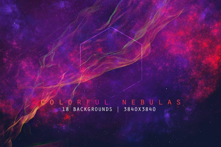 Thumbnail for Space Nebulas Background Set