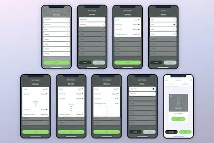 Create Services Climate Smarthome Mobile UI - FP