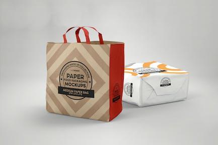 Medium Paper Bags Packaging Mockup