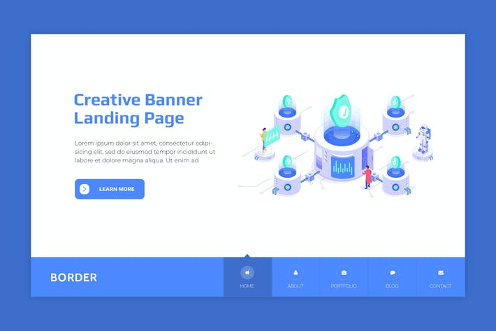 Thumbnail for Border - Hero Banner Landing Page Template