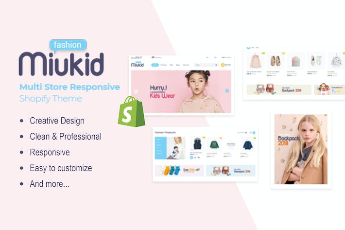 Thumbnail for MiuKid - Multitienda Responsive Shopify Tema