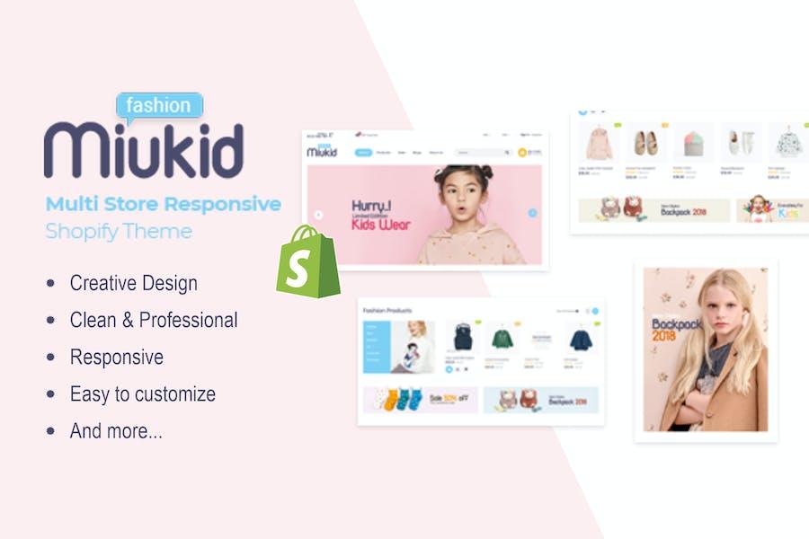 MiuKid - Multitienda Responsive Shopify Tema