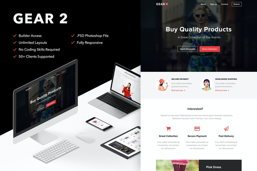 Gear 2 - Responsive Email + Themebuilder Access