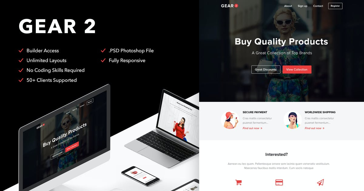Download Gear 2 - Responsive Email + Themebuilder Access by RocketWay