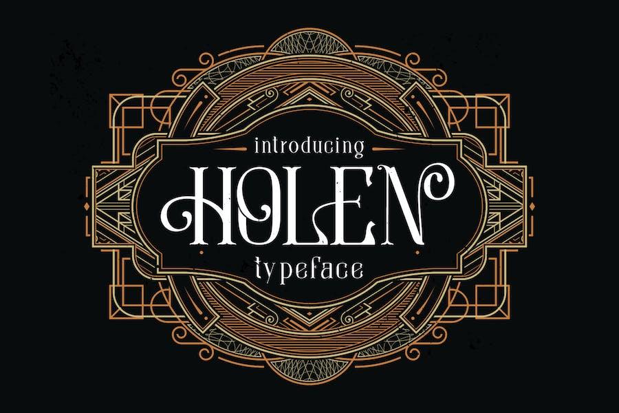 Tipo de letra Holen