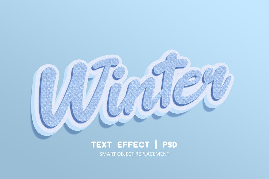 Winter realistic strong bold text effect