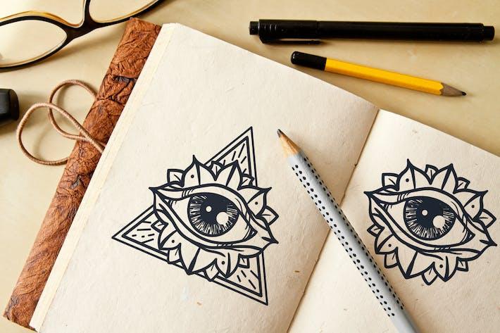 Thumbnail for Tous les yeux voyant en triangle