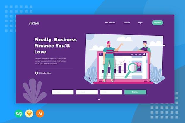Business Finance - Illustration Web Header