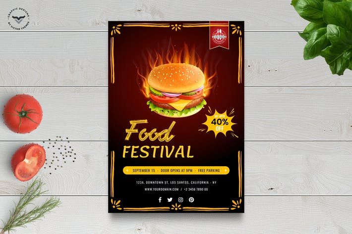 Thumbnail for Fast Food Flyer Template