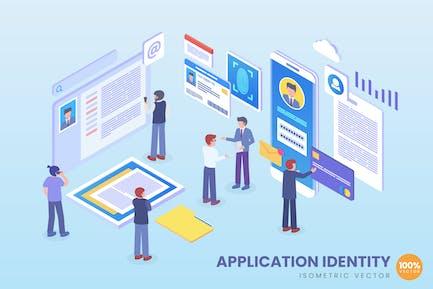 Isometric Application Identity Vector Concept