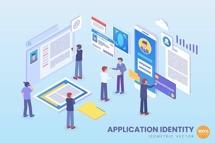 Thumbnail for Concept de Vecteur d'identité d'application isométrique