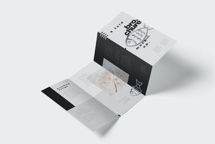 4 - Fold Brochure Mockup Set - DL 99 x 210 mm
