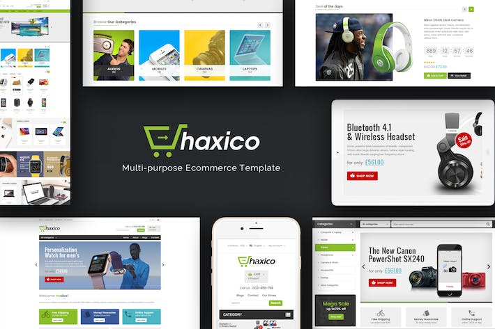 Thumbnail for Haxico - Technology Responsive Magento Theme