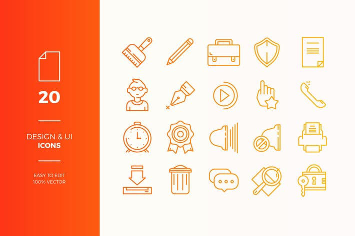 Thumbnail for User Interface Icons Pack