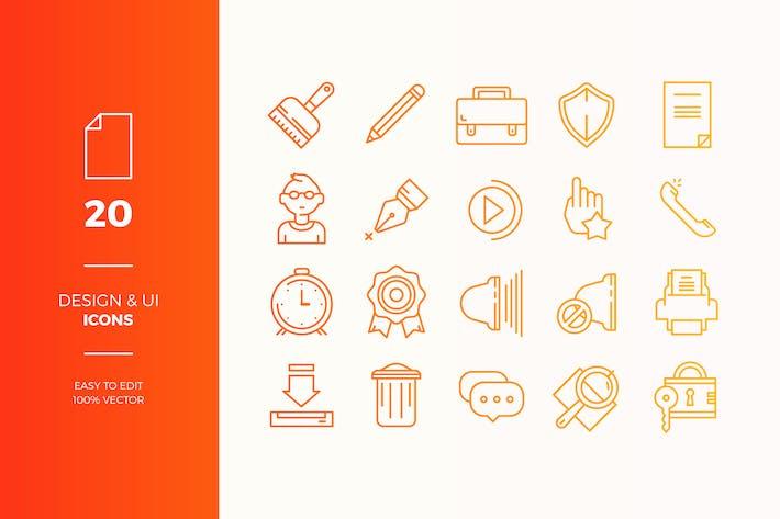 Thumbnail for Icons Pack für die Benutzeroberfläche