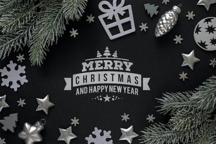 Thumbnail for Silver Christmas mockup