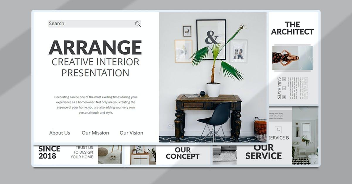 Download Arrange – Creative Interior PowerPoint Template by raseuki