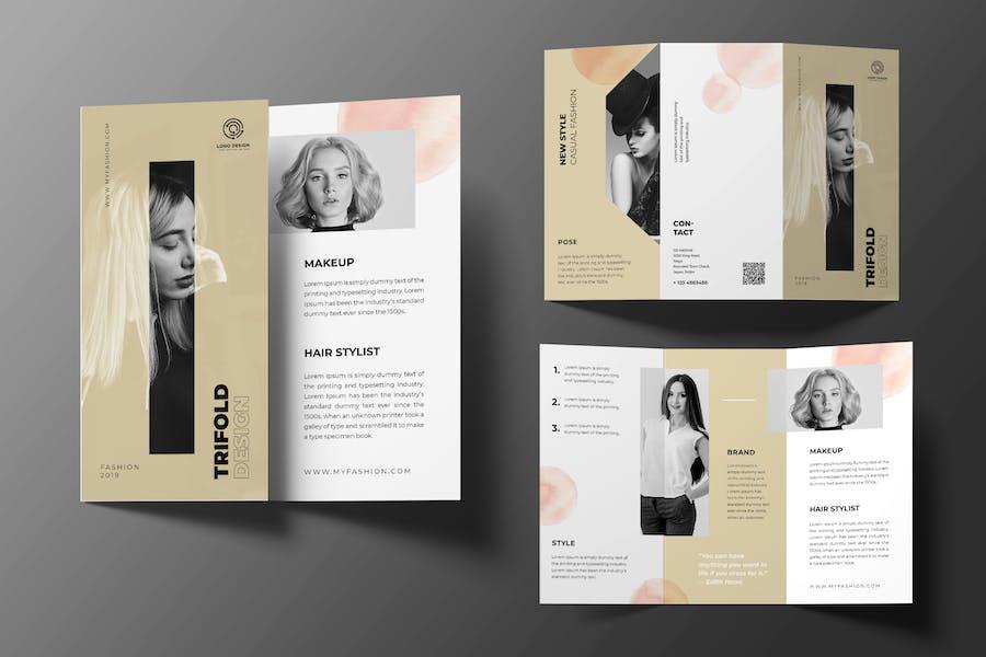 Beauty Care Trifold Brochure