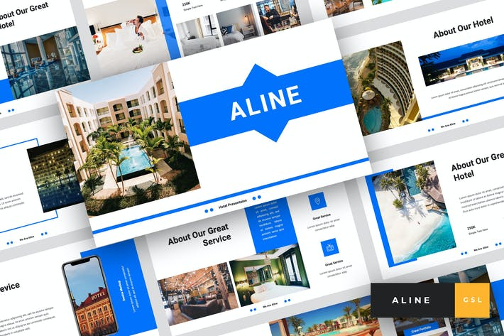 Thumbnail for Aline - Hotel Google Slides Template
