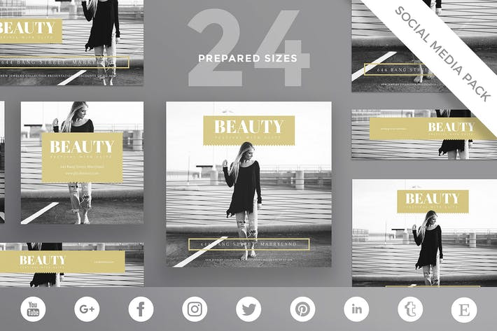 Thumbnail for Beauty Festival Social Media Pack Template