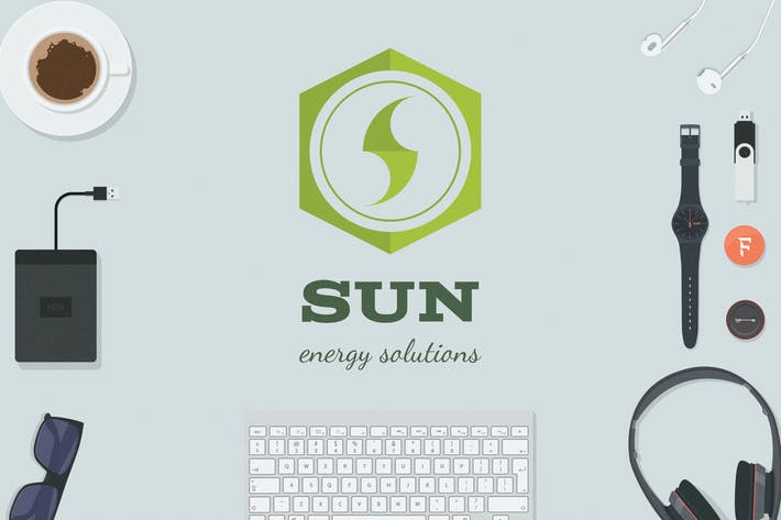 Thumbnail for Sun - Energy Solutions Logovorlage