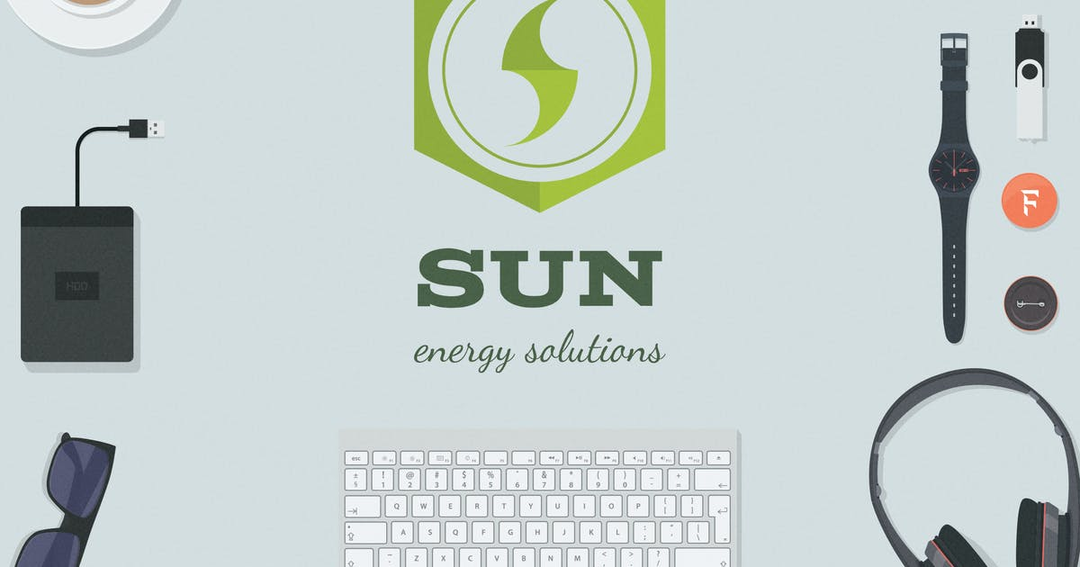Download Sun - Energy Solutions Logo Template by JeksonJS