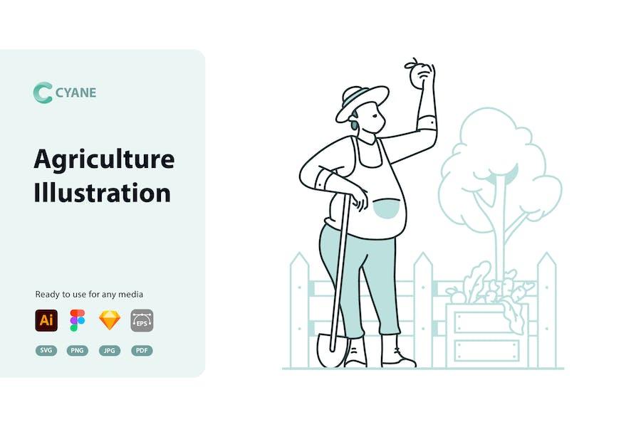 Cyane - Ilustración agrícola