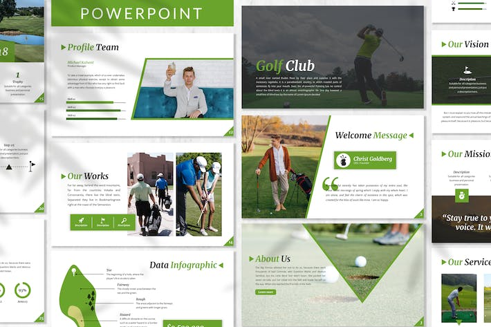 Thumbnail for Golf - Sport Business Powerpoint Template