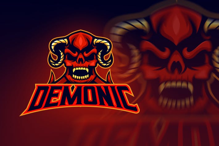 Thumbnail for Evil Hell Demon Esport Logo