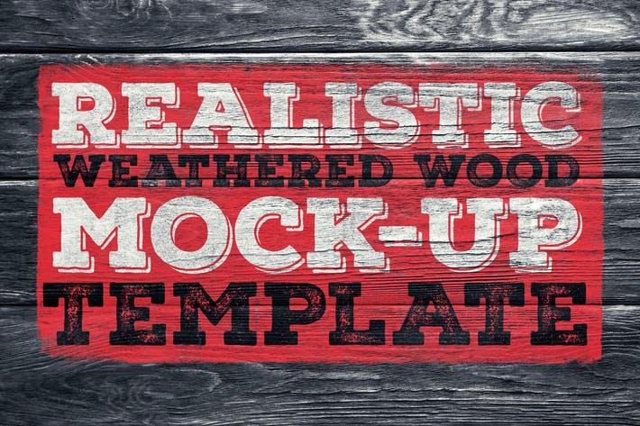 Thumbnail for Realistic Weathered Wood Mock-Up
