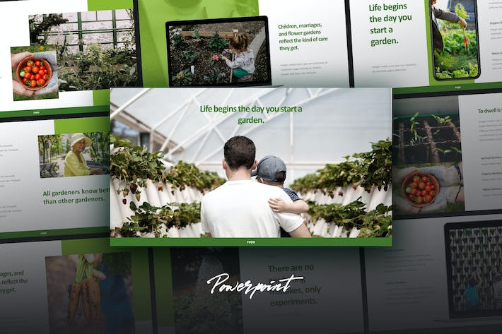 Thumbnail for ROYO - Green Business Powerpoint Template